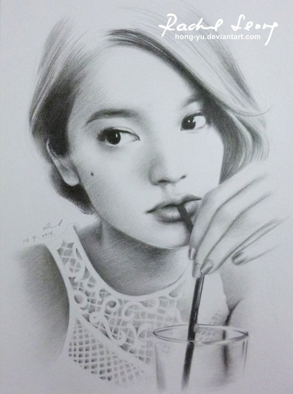 Pencil Drawings of Celebrities Portraits By Leong Hong Yu (18)