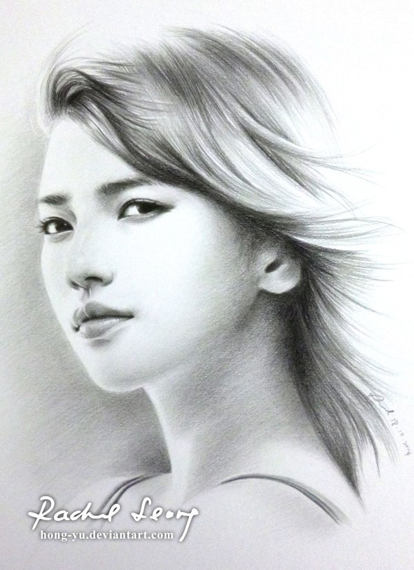 Pencil Drawings of Celebrities Portraits By Leong Hong Yu (2)