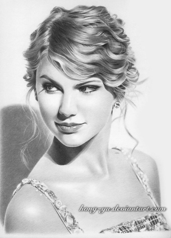 Pencil Drawings of Celebrities Portraits By Leong Hong Yu (3)