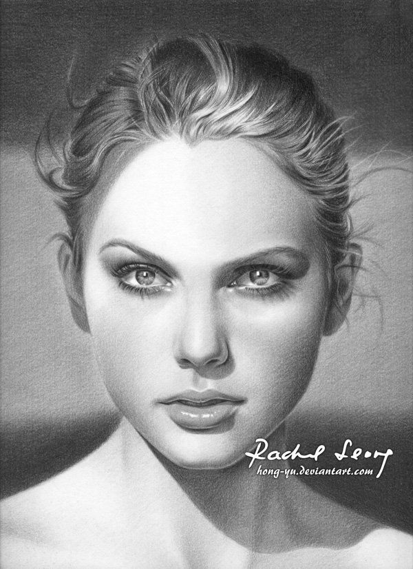 Pencil Drawings of Celebrities Portraits By Leong Hong Yu (4)