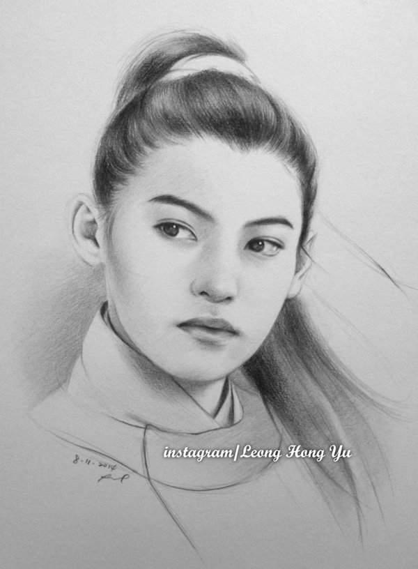Pencil Drawings of Celebrities Portraits By Leong Hong Yu (8)
