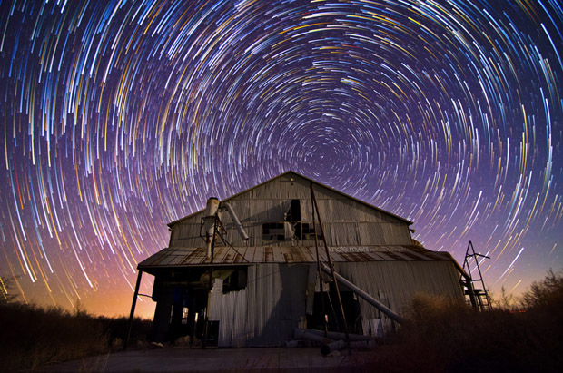 Abandoned Cotton Gin – Star Trail by Knate Myers on 500px