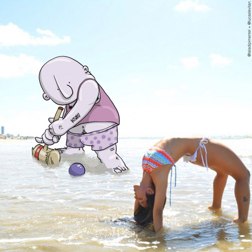 Illustrator Adds Funny Cartoons To Strangers Instagram Photos (7)