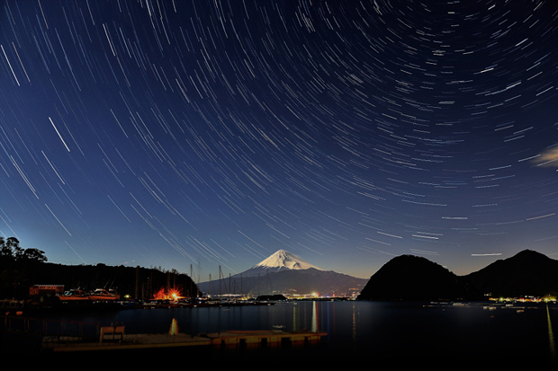 Mt.Fuji with Stars by MIYAMOTO Y on 500px