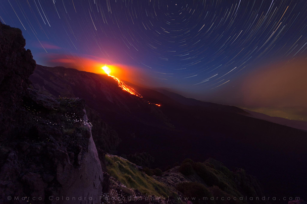 Night on Etna #4 by Marco Calandra on 500px