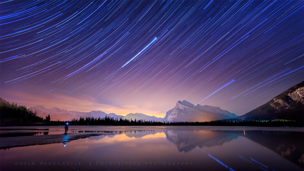Star Trails Selfie – Vermillion Lakes, Banff by Gavin Hardcastle on 500px