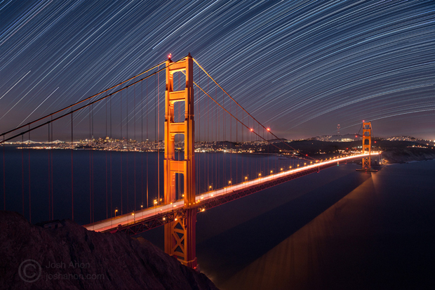 Stars Over San Francisco And the Golden Gate Bridge by Josh Anon on 500px