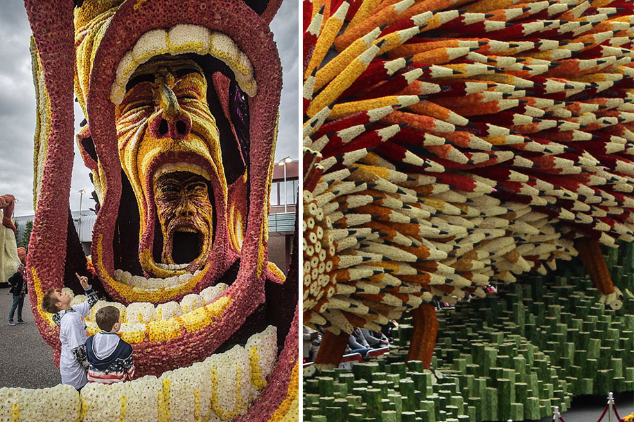 World's Largest Flower Parade In The Netherlands - Flower Sculptures (10)