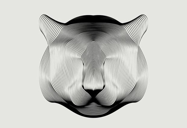 Amazing Animals illustrations using line art (1)