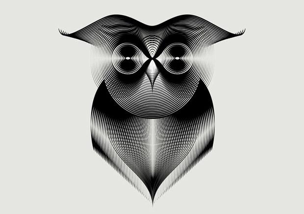Amazing Animals illustrations using line art (2)