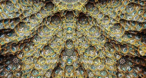 mesmerizing mosque ceilings in iran (10)