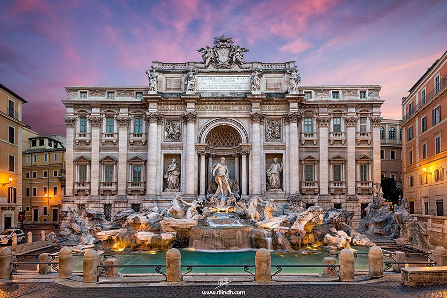 #12 Admiring The Trevi Fountain In Rome, Italy