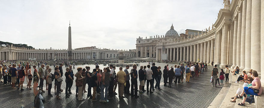 #18 Enjoying St. Peter's Square Before Entering The Beautiful Basilica In Vatican City-1