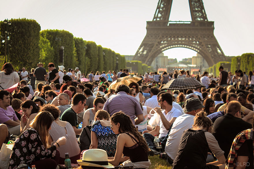 #4 Having A Picnic Near The Eiffel Tower In Paris, France