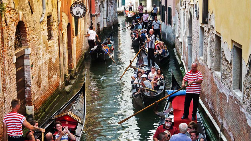 #5 Taking A Peaceful Gondola Ride In Venice, Italy