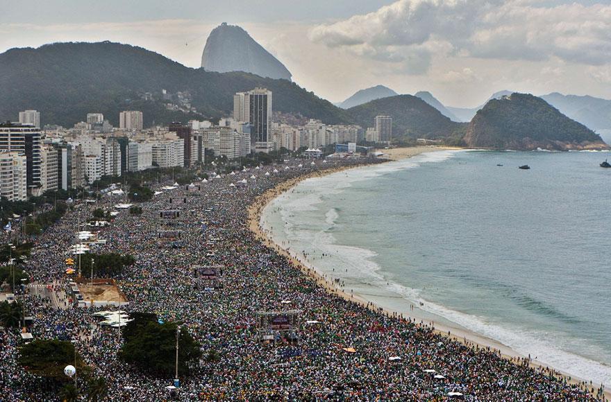 #6 Sunbathing In The Famous Beach Of Rio De Janeiro, Brazil