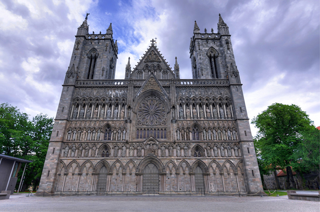 Historic cathedral in Trondheim