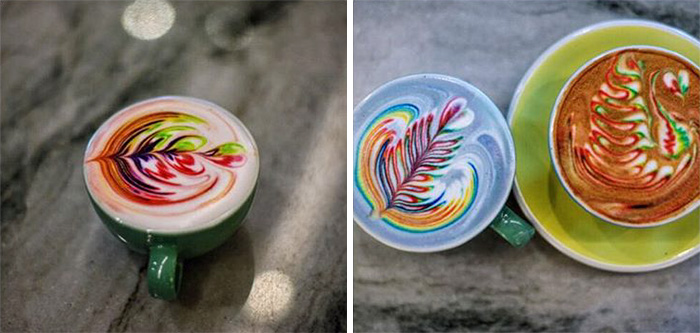 Marvelous Colorful Latte Coffee Art (3)