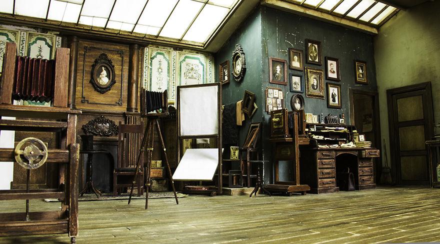 Alamedy Diorama Built A Miniature 1900s Photography Studio (6)