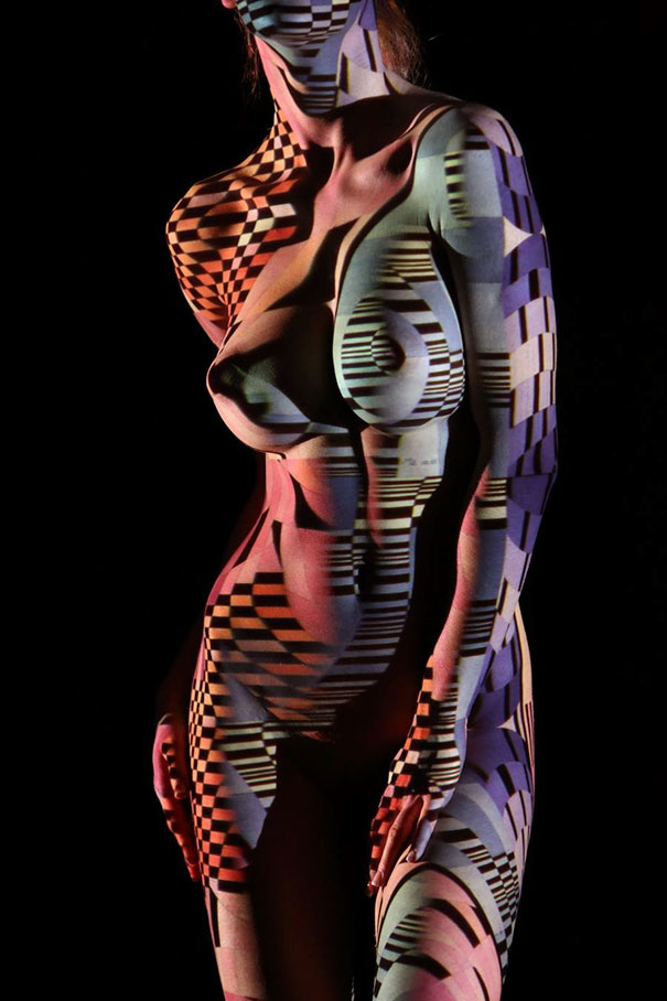 Photographer Clothes Nude Models In Lights And Shadows Creating A Surreal Effects (7)