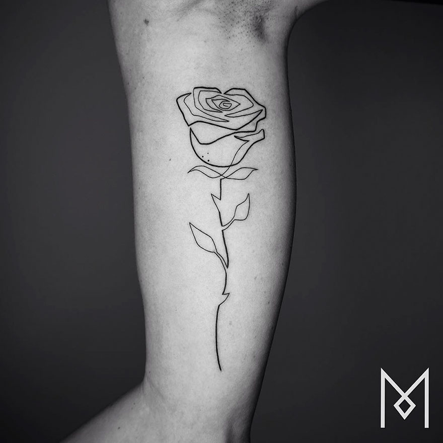 Single Line Tattoos By Iranian-German Artist (13)
