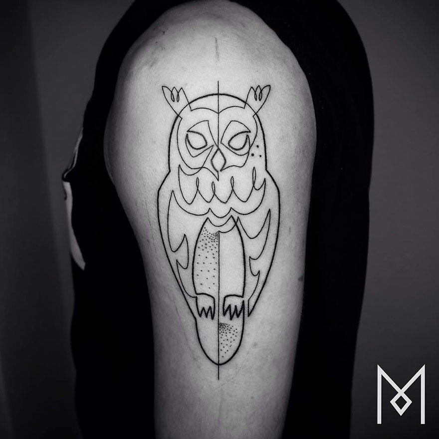 Single Line Tattoos By Iranian-German Artist (18)