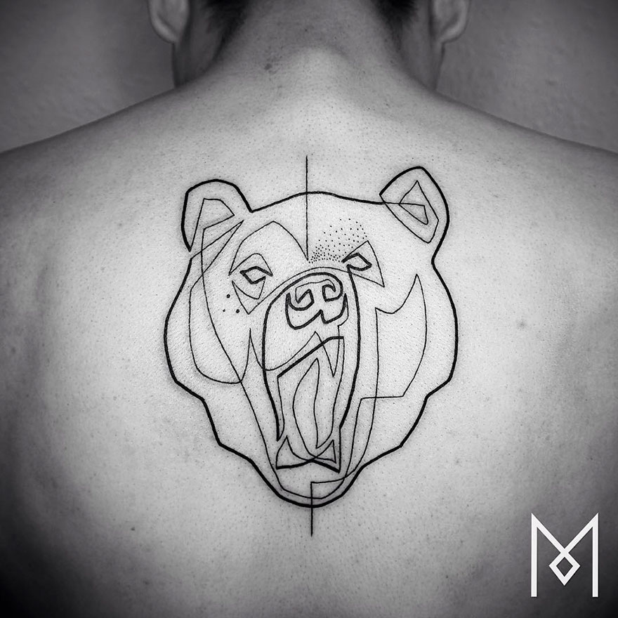 Single Line Tattoos By Iranian-German Artist (22)