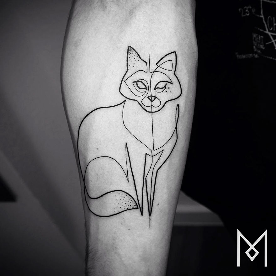 Single Line Tattoos By Iranian-German Artist (26)