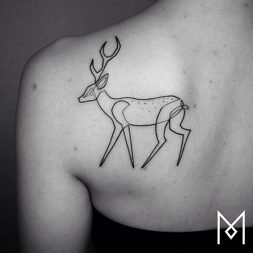 Single Line Tattoos By Iranian-German Artist (3)