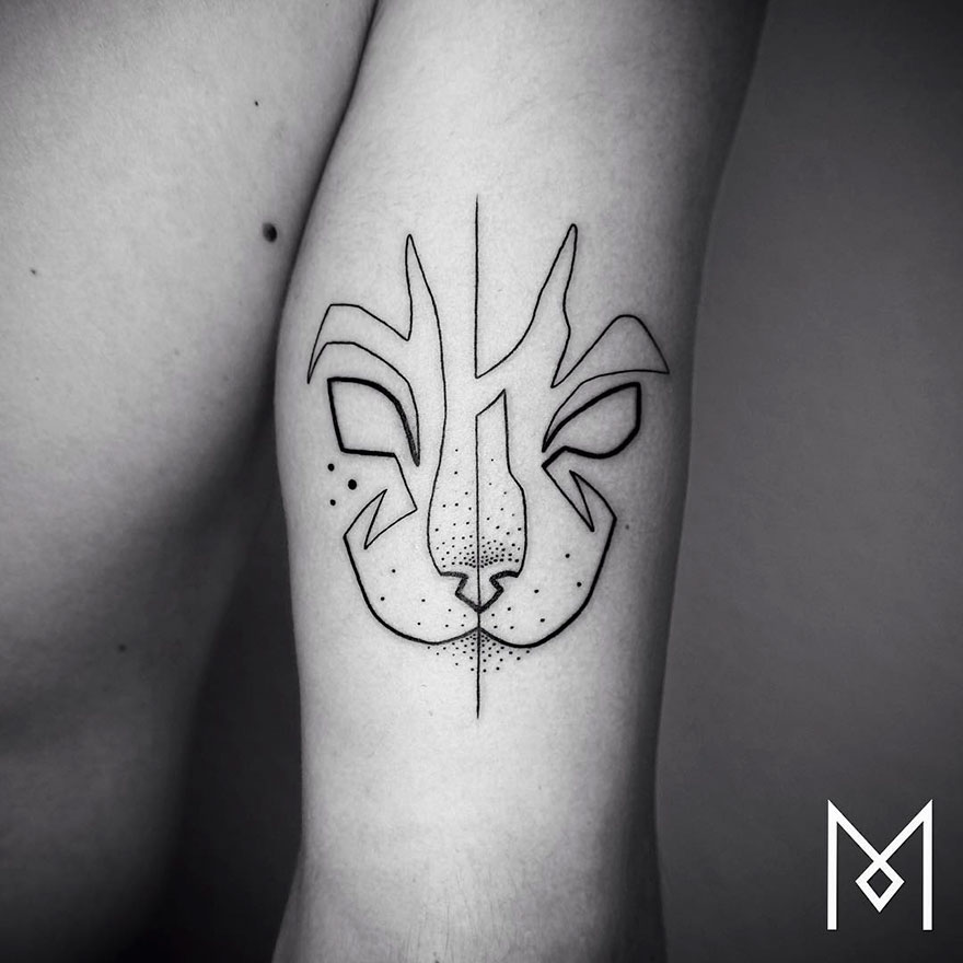 Single Line Tattoos By Iranian-German Artist (7)