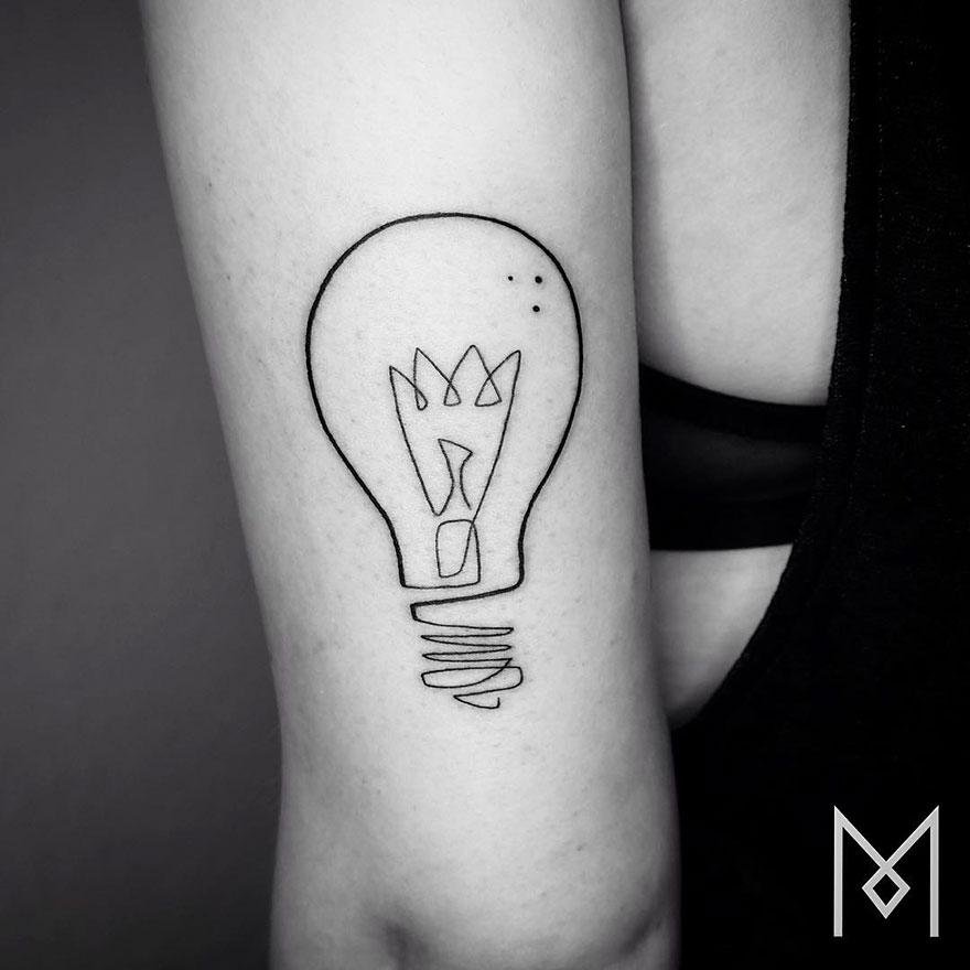Single Line Tattoos By Iranian-German Artist (9)