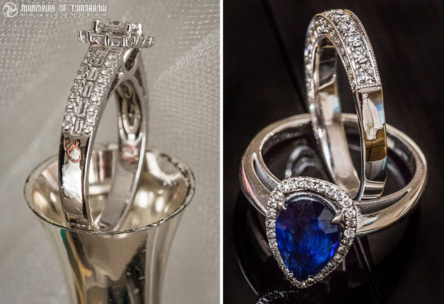 Stunning Wedding Photos Reflected On Rings (1)