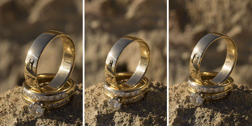 Stunning Wedding Photos Reflected On Rings (12)