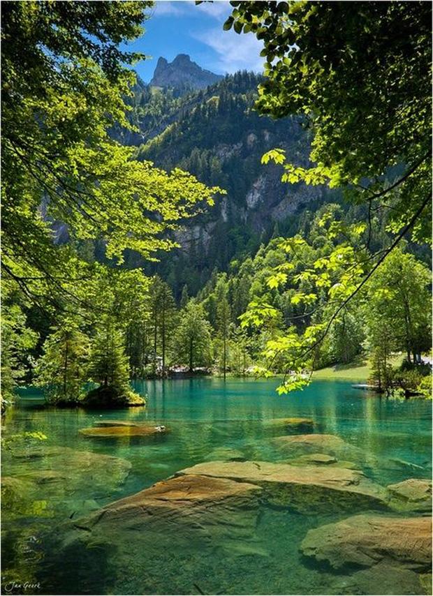 Blue Lake, Bernese Oberland, Switzerland