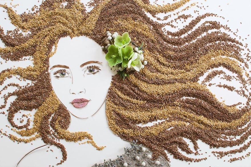 Create Intricate Portraits Out Of Mother Nature Using Twigs And Flowers (20)
