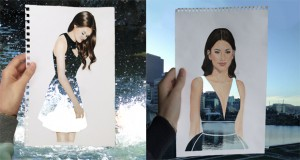 Drawings Into Double Exposure Fashion (3)