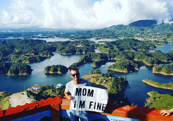 Guy Quit Everything To Travel The World But Doesn't Forget To Assure His Mom He's Fine (8)