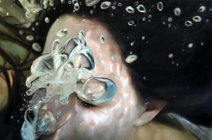 Realistic Underwater Paintings By Reisha Perlmutter (1)