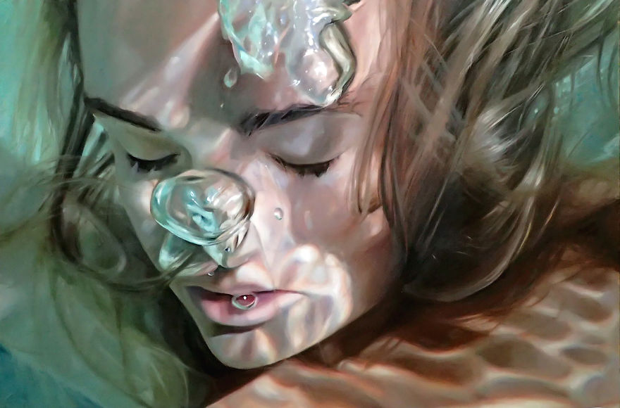 Realistic Underwater Paintings By Reisha Perlmutter (5)