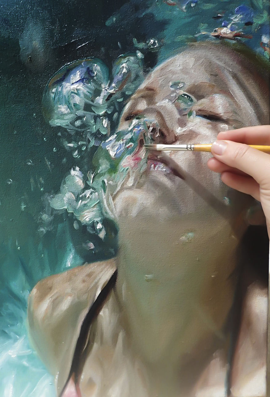 Realistic Underwater Paintings By Reisha Perlmutter (6)