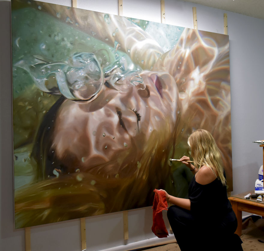 Realistic Underwater Paintings By Reisha Perlmutter (7)