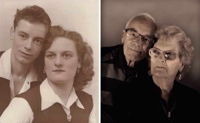 couples recreating their photos prove that true love forever