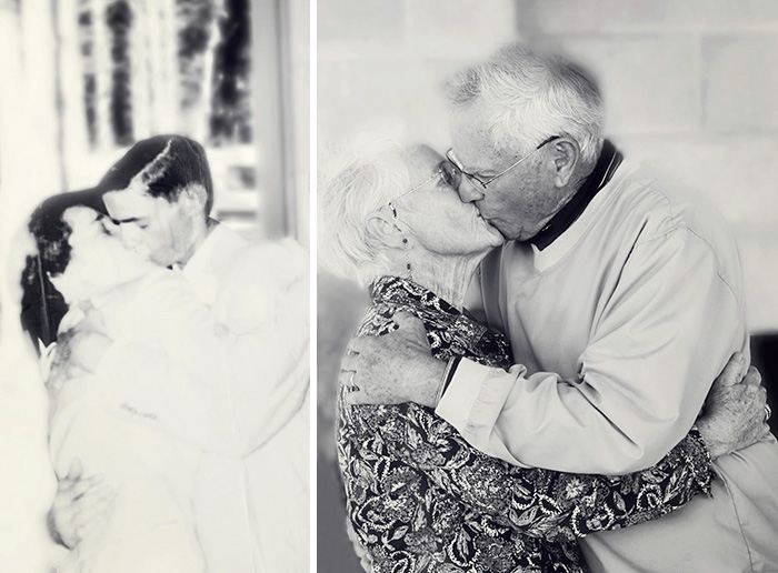 True Love Couples Recreating Their Old Photos (16)
