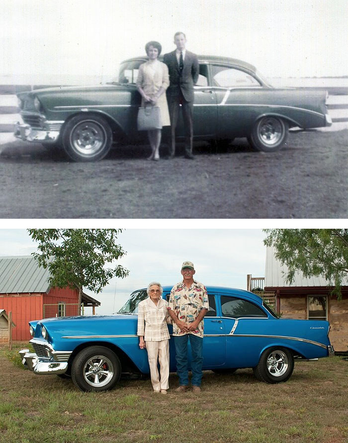 True Love Couples Recreating Their Old Photos (18)
