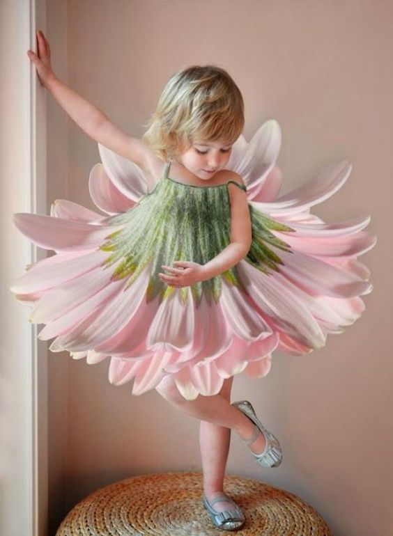 30+ Cute And Beautiful Flower Dress Baby Photos (18)