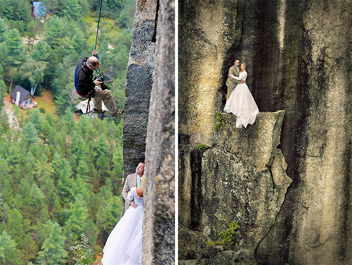 Amazing Photographs That Prove Wedding Photographer Are Crazy (17)