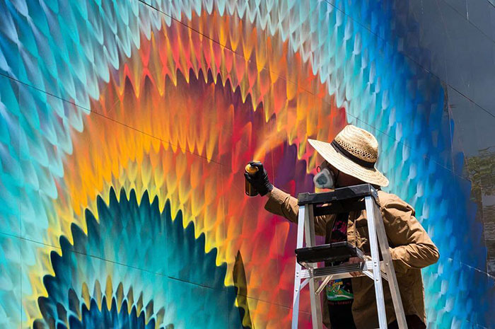 Beautiful Kaleidoscopic Street Art By Douglas Hoekzema (14)