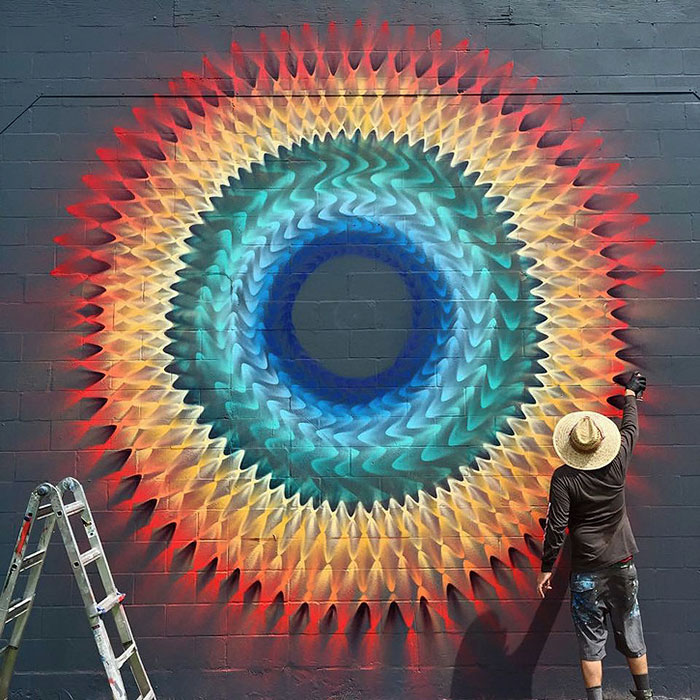 Beautiful Kaleidoscopic Street Art By Douglas Hoekzema (5)