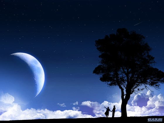 Beautiful Romantic Moonlight Wallpapers (19)