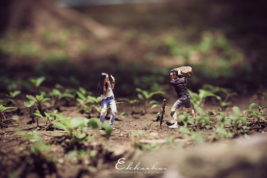 Clever Wedding Photographer Turns Couples Into Miniature People (10)